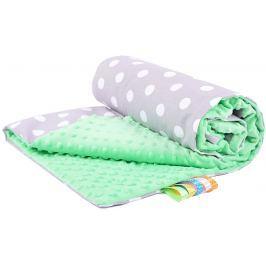 My Best Home Minky deka Plus 50x75 cm, puntini šedá-zelená