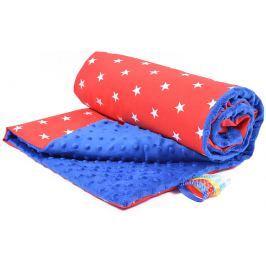 My Best Home Minky deka Plus 75x100 cm, hvězdy modrá-červená