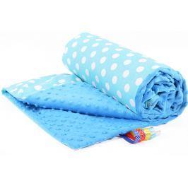 My Best Home Minky deka Plus 75x100 cm, puntini modrá-modrá
