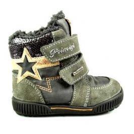 Primigi Dívčí zimní boty s hvězdou - šedé