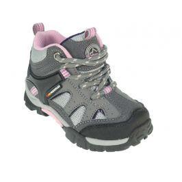 Beppi Dívčí outdoorové boty - šedo-růžové
