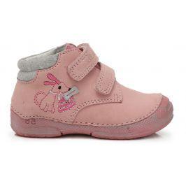 D.D.step Dívčí kotníkové boty s pejskem - světle růžové