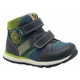 Bugga Chlapecké kotníkové boty - modro-zelené