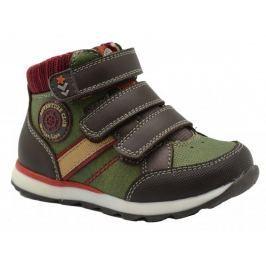 Bugga Chlapecké kotníkové boty - hnědo-zelené