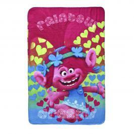 Disney Brand Dívčí fleecová deka Trollové - modrá