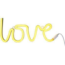 Little Lovely Company Neonové světýlko, love žlutá