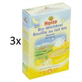 Holle BIO banánová mléčná kaše 3x250g