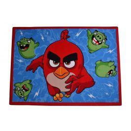 Carpet your life Dětský koberec Angry Birds Ruďák a Čuně, 95x133 cm - modrý