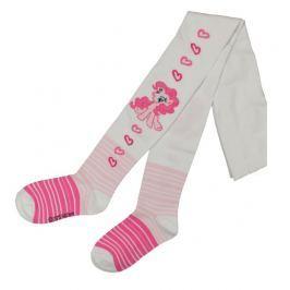E plus M Dívčí punčocháče My Little Pony - bílo-růžové