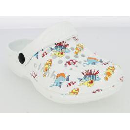 V+J Dětské sandály s rybkami - bílé