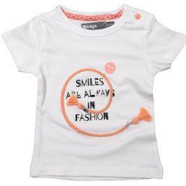Dirkje Dívčí tričko Smiles - bílé