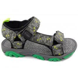 Bugga Chlapecké sandály s kostičkami - šedo-zelené