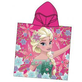 Disney by Arnetta Dívčí pončo Frozen - růžové
