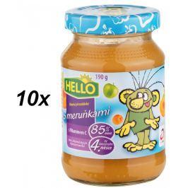Hello Ovocná přesnídávka s meruňkami 10x190g