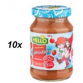 Hello Ovocná přesnídávka s jahodami 10x190g
