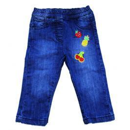 Carodel Dívčí riflové kalhoty s nášivkami - světle modré