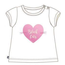 Mix 'n Match Dívčí tričko Black Cats - bílé