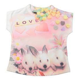 Dirkje Dívčí tričko se zajíčky - barevná
