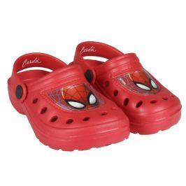 Disney Brand Chlapecké gumové sandály Spiderman - červené