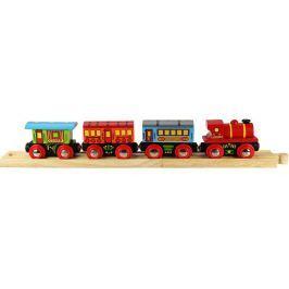 Bigjigs Osobní vlak + 3 koleje