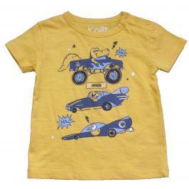 Carodel Chlapecké tričko s krokodýlem - žluté