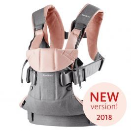 Babybjörn Ergonomické nosítko One 2018 Grey/Powder pink cotton