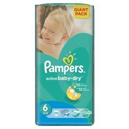Pampers Active Baby 6 Extra large 13- 18 kg, 56 ks GIANTPACK - jednorázové pleny