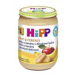 HiPP BIO Jablka a banány s dětskými keksy 6x 190g