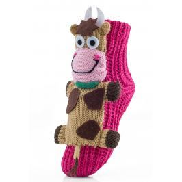 Attractive Dívčí ponožky s kravičkou - barevné