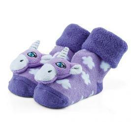 Attractive Dívčí ponožky s jednorožcem - fialové