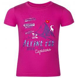 ALPINE PRO Dívčí tričko MATTERO - růžové