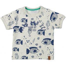 Dirkje Chlapecké tričko - šedo-modré