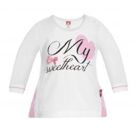 2be3 Dívčí tričko Sweetheart - bílé