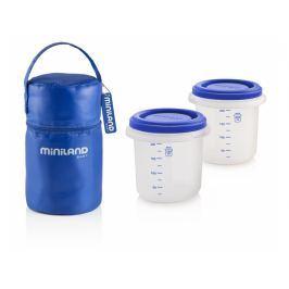 Miniland Termoizolační pouzdro + kelímky na jídlo Blue 2ks