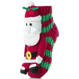 Attractive Dětské ponožky se Santa Clausem - zeleno-červené