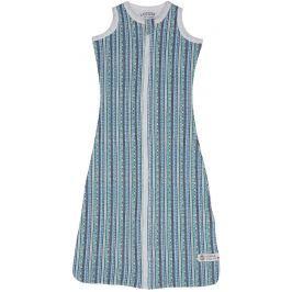 Lodger Spací pytel Hopper Sleeveless Stripe Xandu Dusty Turquoise, vel. 68/80