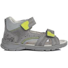 Ponte 20 Chlapecké kožené sandály - šedé