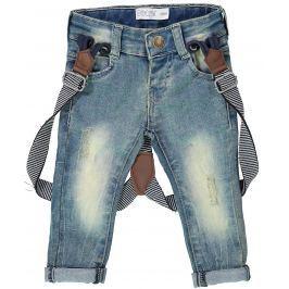 Dirkje Chlapecké džíny s kšandami - modré
