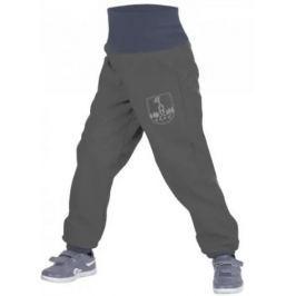 Unuo Chlapecké softshellové kalhoty s fleecem - šedé