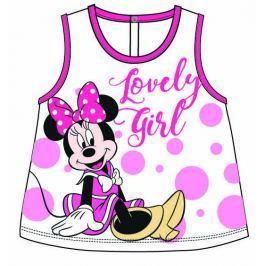 Disney by Arnetta Dívčí tílko Minnie - bílo-růžové