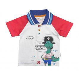 Gelati Chlapecké tričko Pirates - bílo-červené