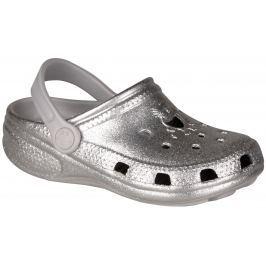 Coqui Dívčí třpytivé sandály Big Frog - stříbrné