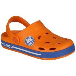 Coqui Chlapecké sandály Froggy - oranžové