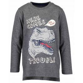 Blue Seven Chlapecké tričko s dinosaurem - šedé