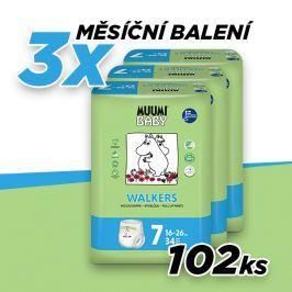Muumi Extra Large 16-26kg size 7, měsíční balení eko plenkových kalhotek - 102ks
