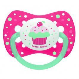 Canpol babies CANPOL BABIES Dudlík silikonový symetrický 18m+ CUPCAKE růžový
