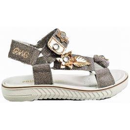 Primigi Dívčí sandály s kytičkami - zlaté