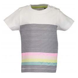 Blue Seven Chlapecké tričko s pruhy - bílé