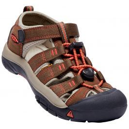 Keen Chlapecké outdoorové sandály Newport H2 Junior, Dark Earth/Spicy Orange - hnědé