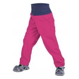 Unuo Dívčí softshellové kalhoty bez zateplení - růžové